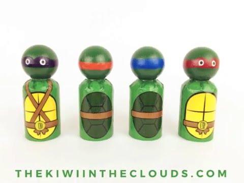 Ninja Turtle Peg Doll Tutorial