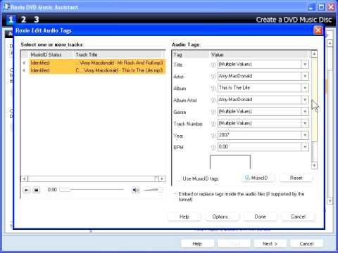 Create a DVD Music Disc
