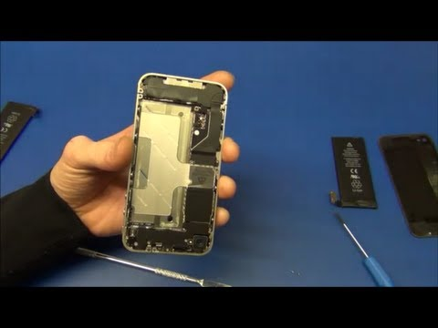 iPhone 4 Battery Replacement + Battery Test - Ec-Projects