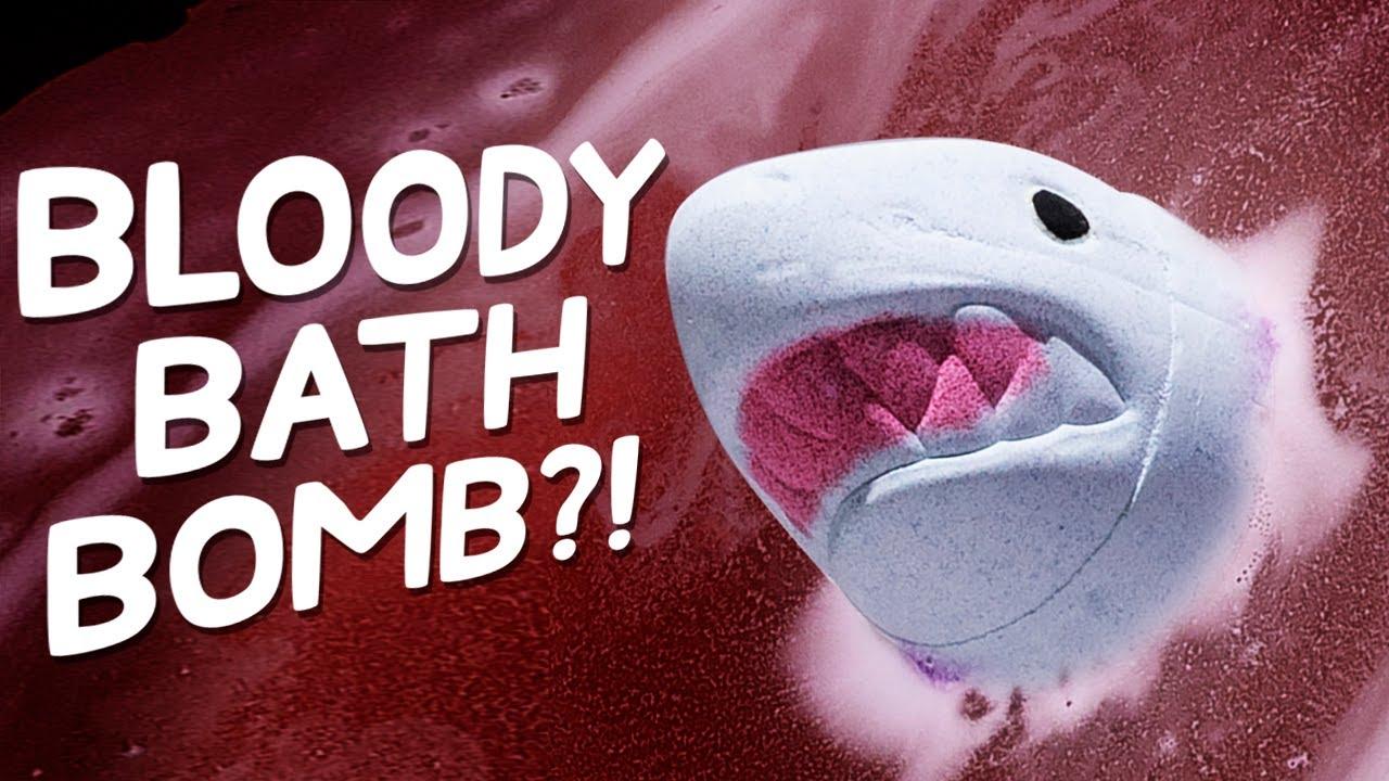 This Bath Bomb Imitates a Shark Attack
