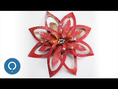 DIY christmas decorations using paper - Paper flower