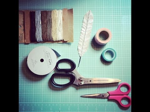 How to make your own scrapbook feather embellishments