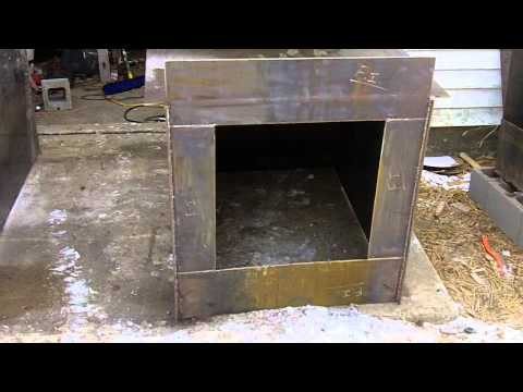 #2 DIY Outdoor Wood Burner Boiler (Hydronic Wood burning stove) free heat