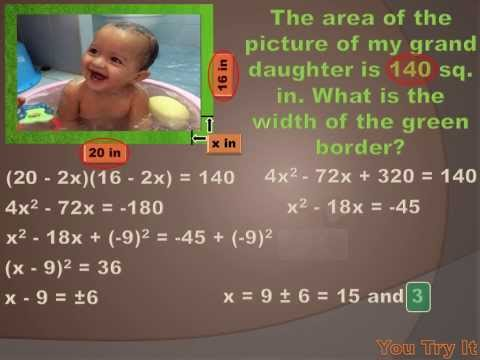 A 4 4 Solve Quadratic Equations by Using Square Roots and by Completing the Square