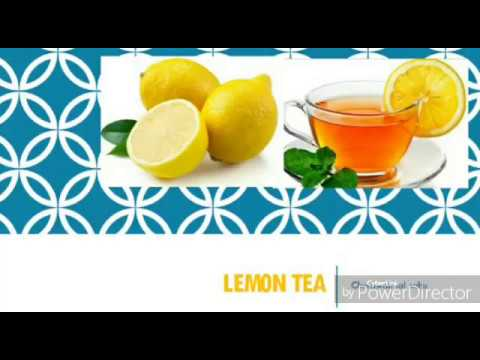 Lemon tea in hindi