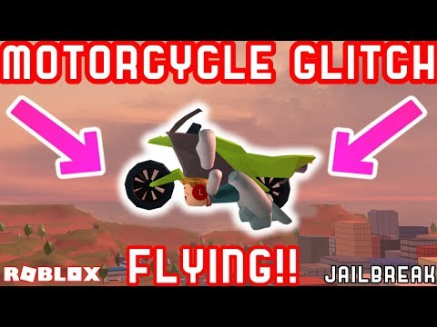 FLYING MOTORCYCLE GLITCH - Roblox Jailbreak Myth busting 10