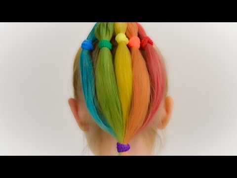 How to DYE kid's hair with HAIR CHALK. Quick and safe coloring for kids