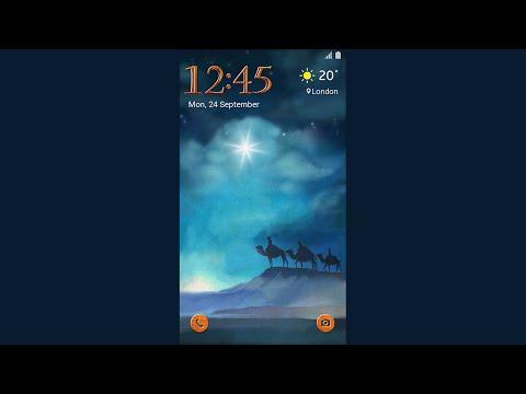 Galaxy Theme - Christmas Nativity Animated Lockscreen