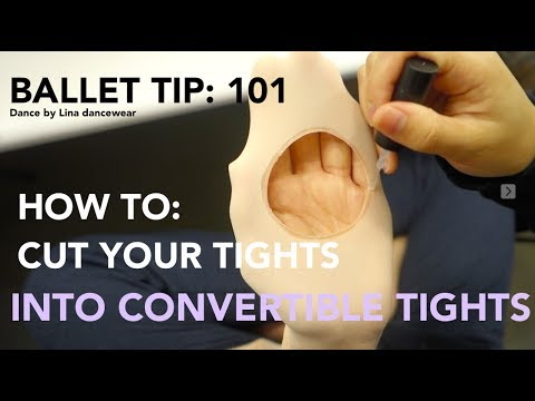 How to cut your tights into convertible tights