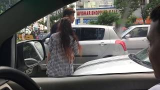 Road rage in Kolkata India