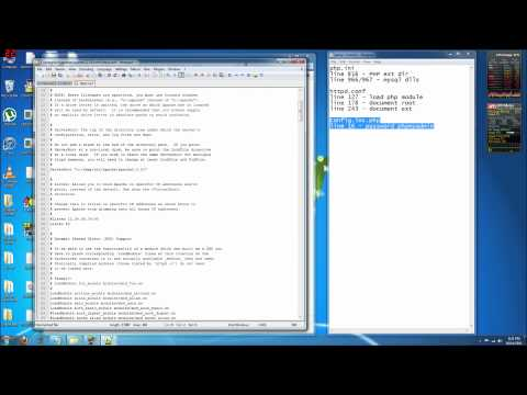 WAMP 2.2 (Bundled) Part 2 - Config File Walkthrough: httpd.conf php.ini my.ini config.inc.php
