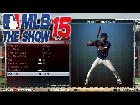 MLB 15 The Show Road To The Show Ep. 1 - THE ULTIMATE PLAYER CREATION!