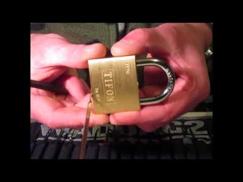 Single Pin Picking A TIFON 5 Pin 50mm Padlock By IFAM Made In Spain