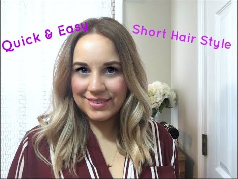 How I style My Short Hair | Short Hair Style | Quick & Easy Short Hairstyle