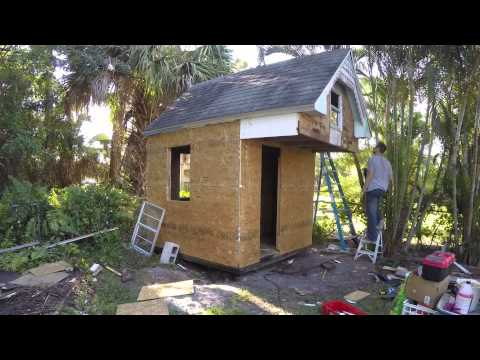 How to re-side a shed in 5 minutes