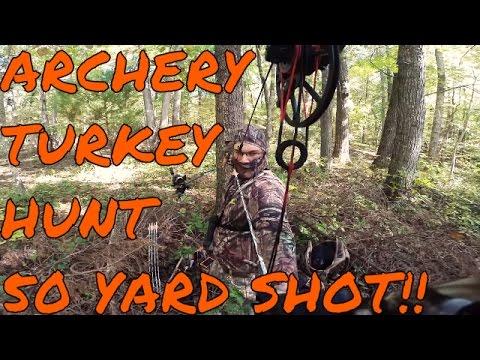 Self Filmed Fall Archery Turkey Hunt 50 Yard Shot - Craft Outdoors Multi-View Video