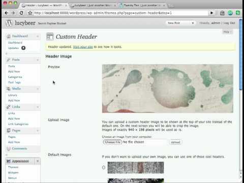 Twenty Ten Theme  - Customize Header Image [WordPress Tutorial]