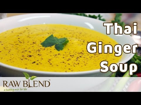How to Make Hot Soup (Thai Ginger Recipe) in a Vitamix 5200 Blender by Raw Blend