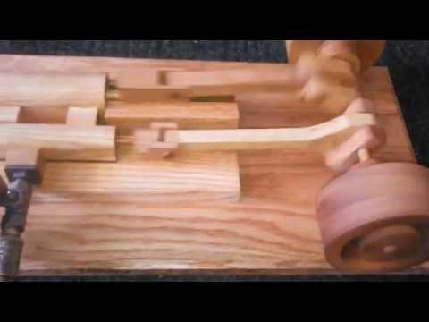 Wooden steam engine