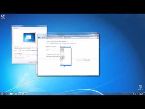 Turn Off Screen Saver on windows 7