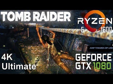 Tomb Raider 4K Test On Gigabyte GTX 1080 + Ryzen 5 1600, Ultimate Settings