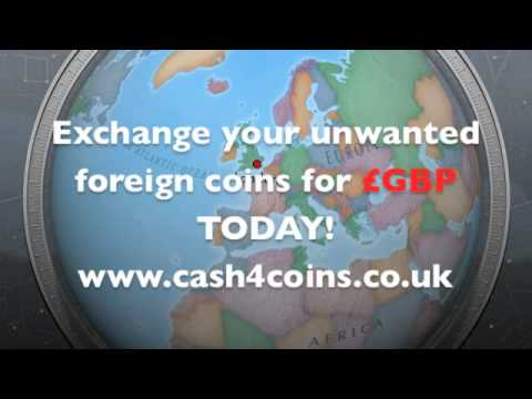Exchange foreign coins for CASH TODAY