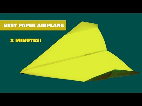 How to make a paper plane that flies 10000 feet for kids