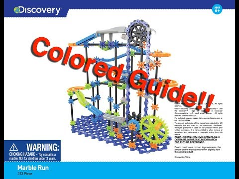 Sharper Image 313 Piece Marble Run Colored Instructions
