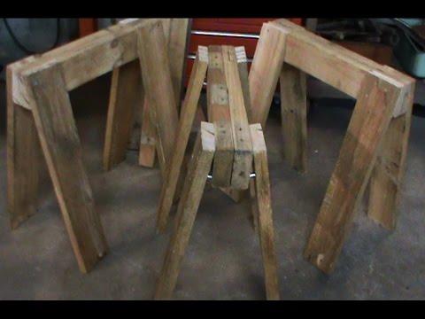Nakey has a CNC: ep3 Wooden sawhorses