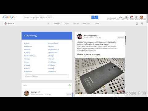 Google+ - How To See Technology Posts On Google Plus