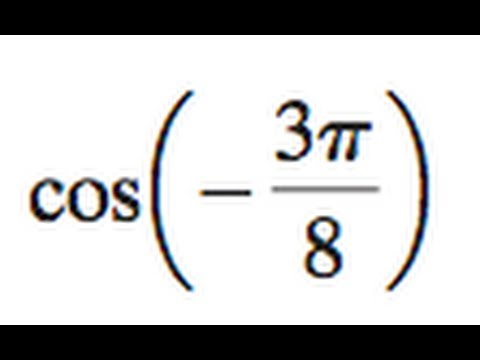 cos(-3pi/8) find the value of the half angle