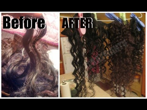 Straight to Curly : Boiling Permanent Spiral Curls Into Virgin hair  !