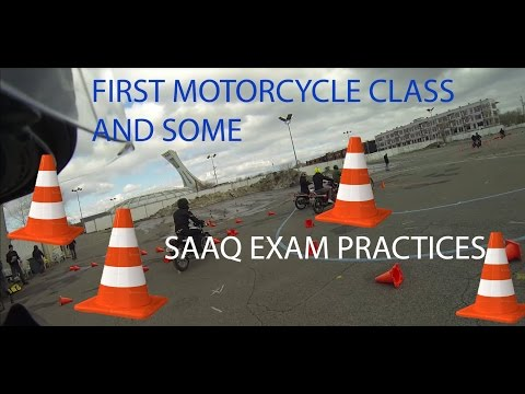 First motorcycle class + SAAQ exam practice