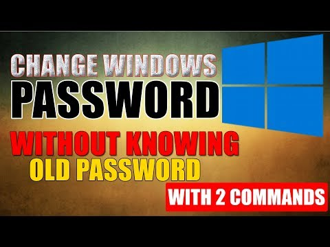 How To Change Windows Password Without Knowing Old Password Using CMD😀