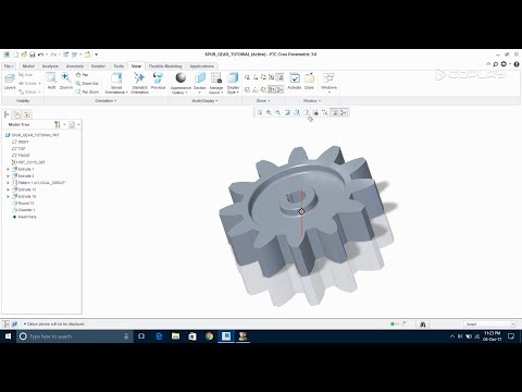 How to make Spur gear || Creo 3.0 Tutorial