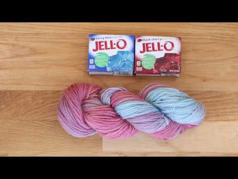 Dyepot Weekly #8 - Dyeing Wool Yarn with Jell-O