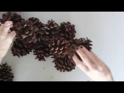 DIY Practically Free Pinecone Wreath