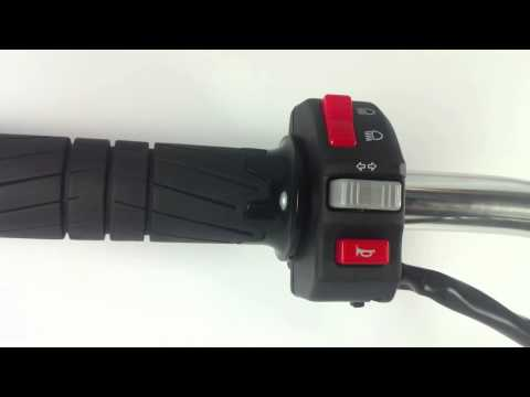 Motorcycle Black Control Switch Turning Signals  Lights Horn -- CT0028 Control switch from kiwav.com