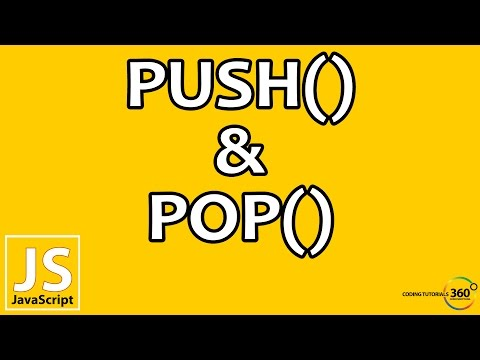 Push and Pop Array Methods in JavaScript