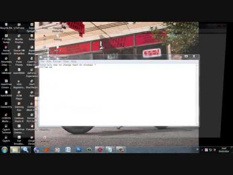 change path on windows 7