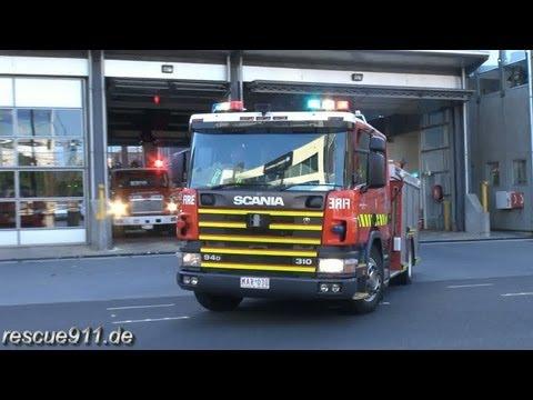 Pumper 38A + 38B MFB South Melbourne Fire Station