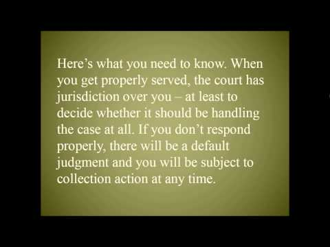 Respond, Don't Default - How Not to Lose When Sued by Debt Collectors