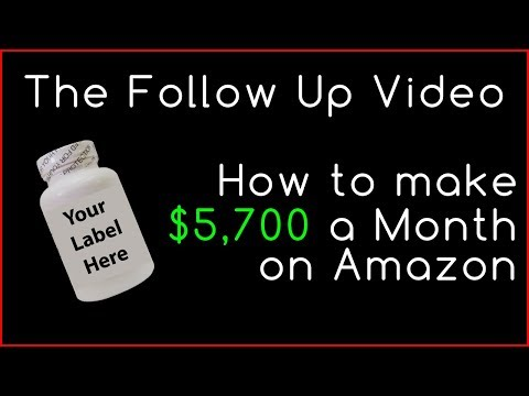 How To Make $5,700 On Amazon With Private Label Supplements  |