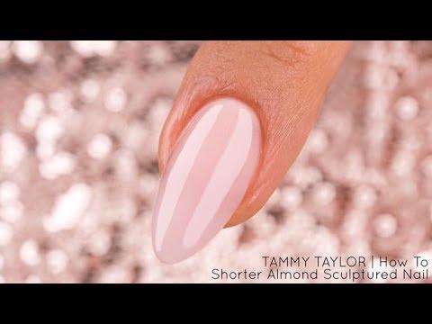❤ Tammy Taylor Shorter Almond Sculptured Nail