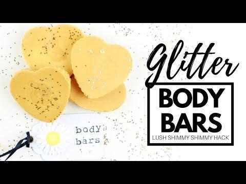 DIY Glitter Body Bars - a LUSH Shimmy Shimmy Hack