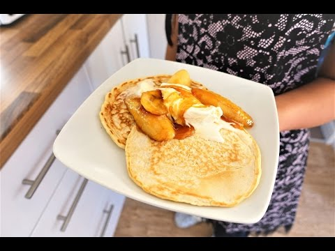Scotch Pancakes - simple and tasty recipe with caramelised banana