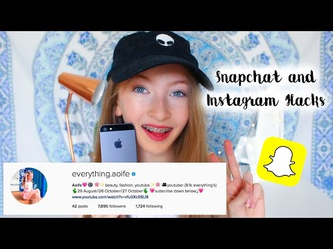 ▲Snapchat and Instagram Hacks | GET VERIFIED, ANIMATE AND CHANGE FONT ON SNAPCHATS▼