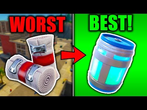 RANKING EVERY HEALING ITEM FROM WORST TO BEST! (Fortnite Battle Royale)