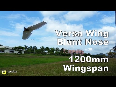 FT Versa Wing Blunt Nose - Low Pass and Rolls - 1200mm Flying Wing