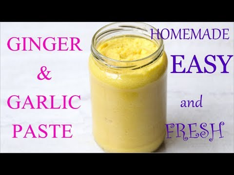 Homemade Ginger garlic paste that will last for 6 months and more